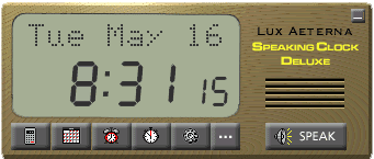 Speaking Clock Deluxe Screenshot
