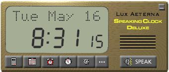 Speaking Clock Deluxe Screenshot 1