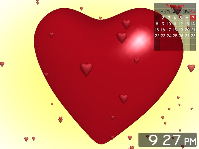 Love Heart 3D Screensaver Screenshot 1