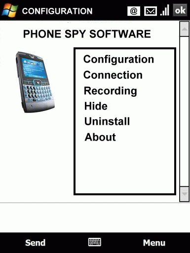 Phone Spy Software Screenshot