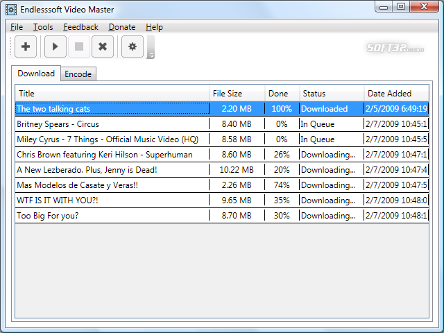 Endlesssoft Video Master Screenshot 1