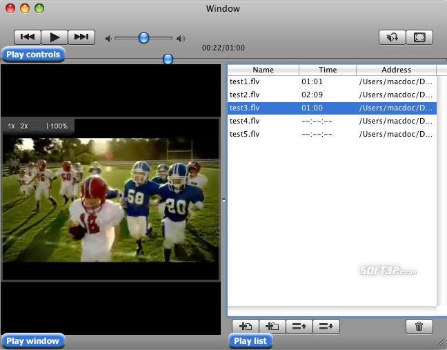 Free FLV Player for Mac Screenshot 3