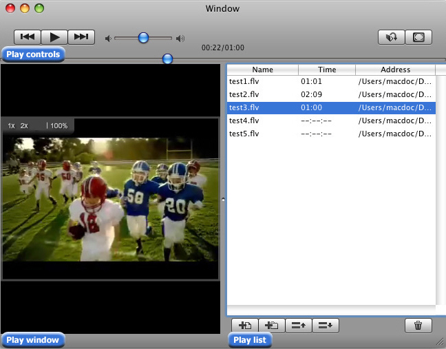 Free FLV Player for Mac Screenshot