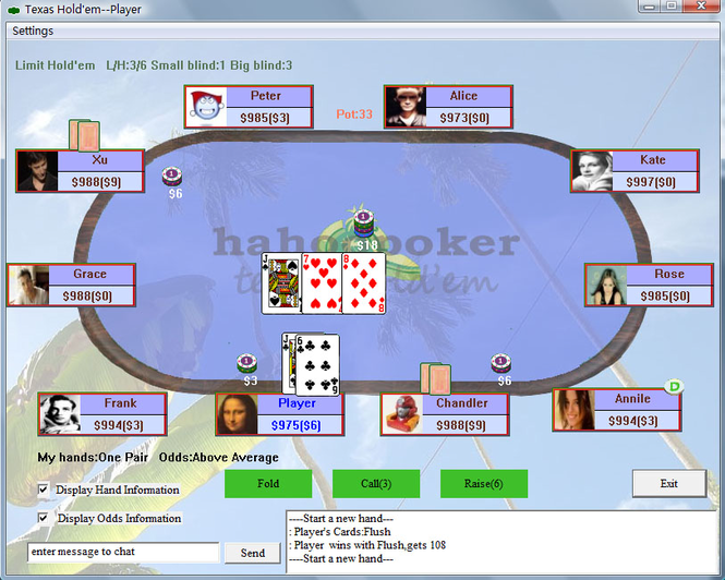 Hahoopoker home edition Screenshot
