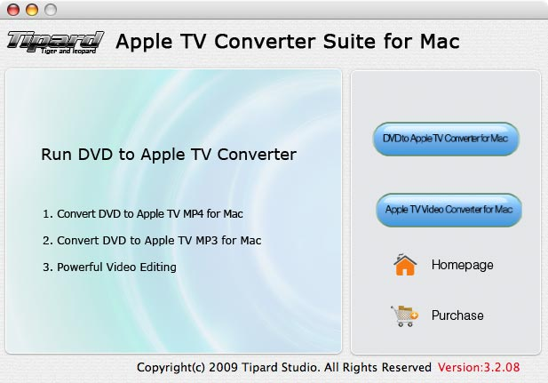 Tipard Apple TV Converter Suite for Mac Screenshot
