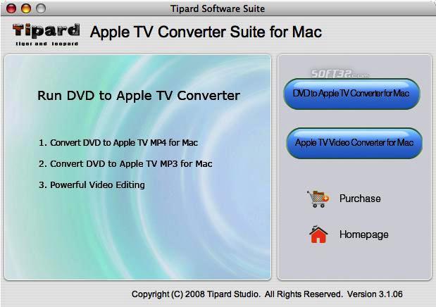 Tipard Apple TV Converter Suite for Mac Screenshot 2