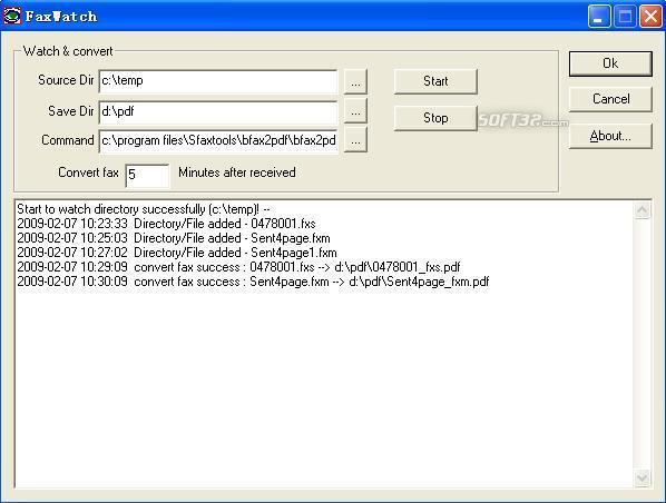FaxWatch Screenshot 2
