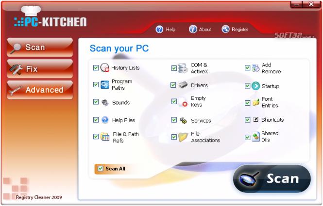 PC Kitchen Registry Cleaner 3 Screenshot 2