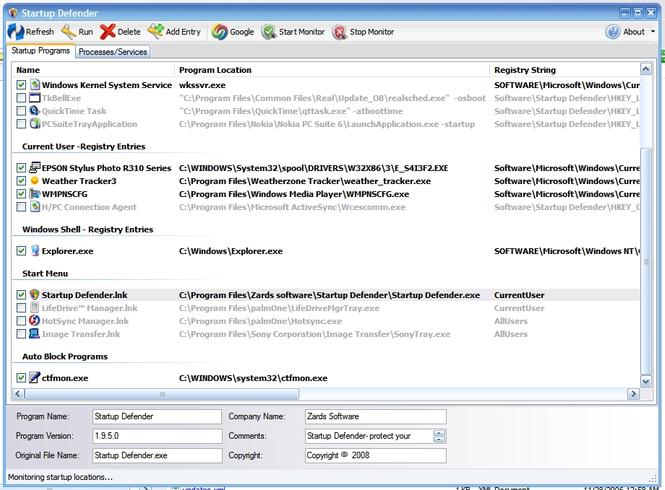 Startup Defender Screenshot