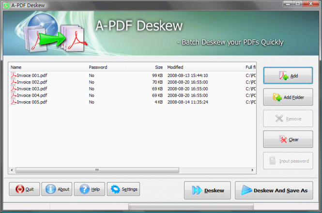 A-PDF Deskew Screenshot
