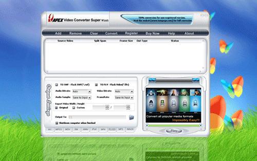 Apex Video Converter Vista Screenshot
