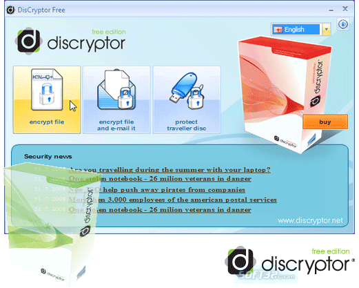DisCryptor PERSONAL Screenshot
