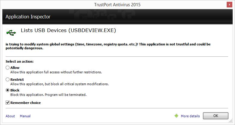 TrustPort Antivirus Screenshot 7