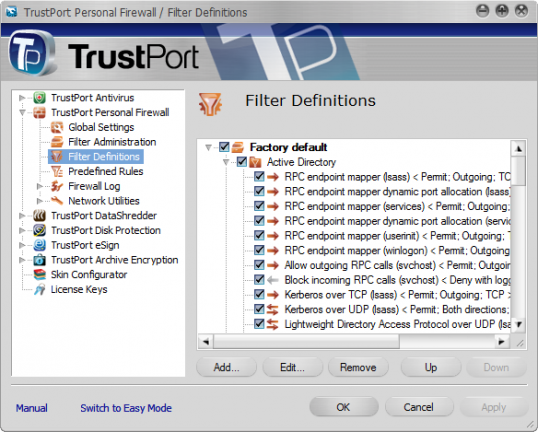 TrustPort PC Security Screenshot