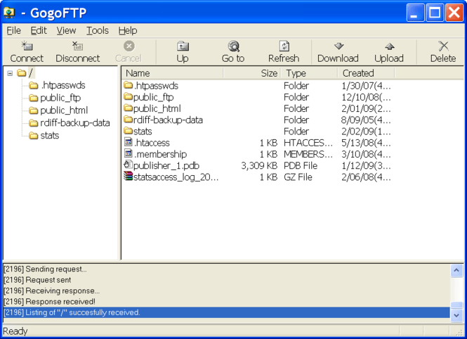 GogoFTP Screenshot