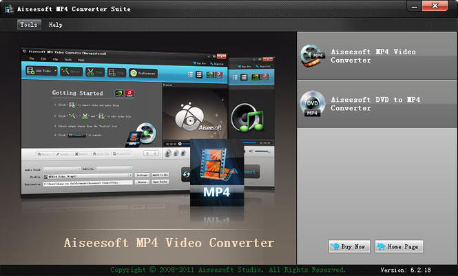 Aiseesoft MP4 Converter Suite Screenshot