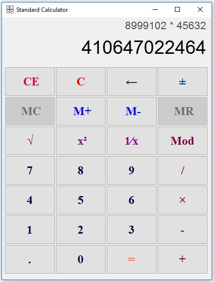 EG Calc Screenshot 2