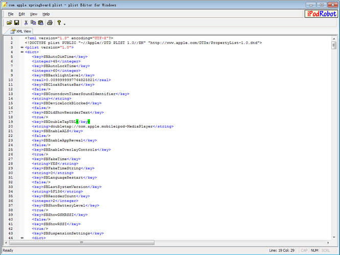 plist Editor for Windows Screenshot