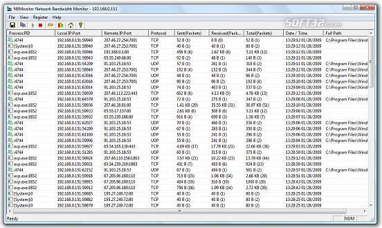 NBMonitor Network Bandwidth Monitor Screenshot 3