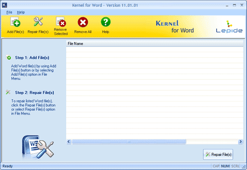 Word Repair Screenshot
