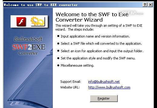 BullrushSoft Swf to exe Converter Screenshot 3