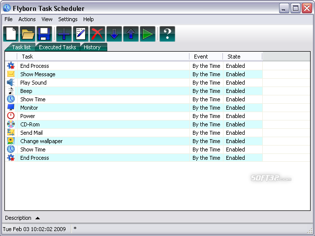 Flyborn Task Scheduler Screenshot