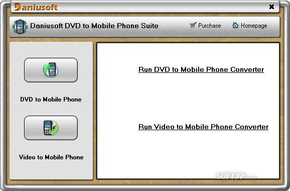 Daniusoft DVD to Mobile Phone Suite Screenshot