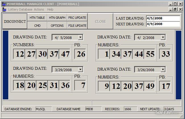 Powerball Manager Client Screenshot 2