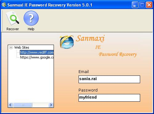 Internet Explorer Password Revealer Program Screenshot 3