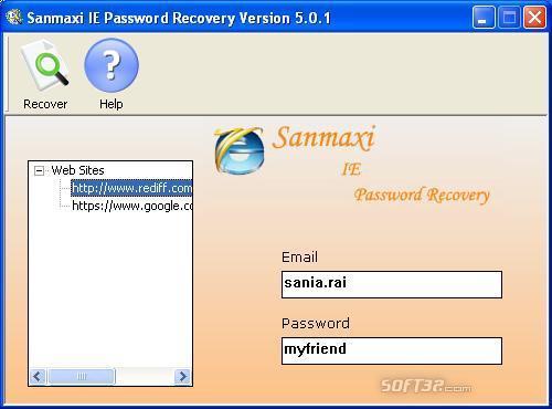 Internet Explorer Password Revealer Program Screenshot 2