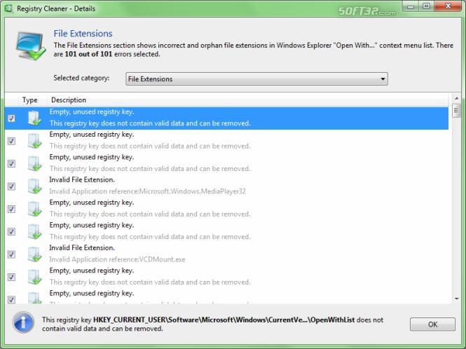 Auslogics Registry Cleaner Screenshot 2