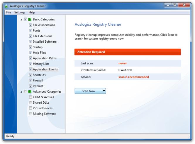 Auslogics Registry Cleaner Screenshot 1