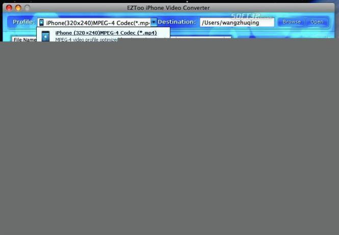 iPhone Video Converter for MAC(intel) Screenshot 2