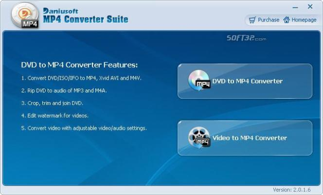 Daniusoft MP4 Converter Suite Screenshot