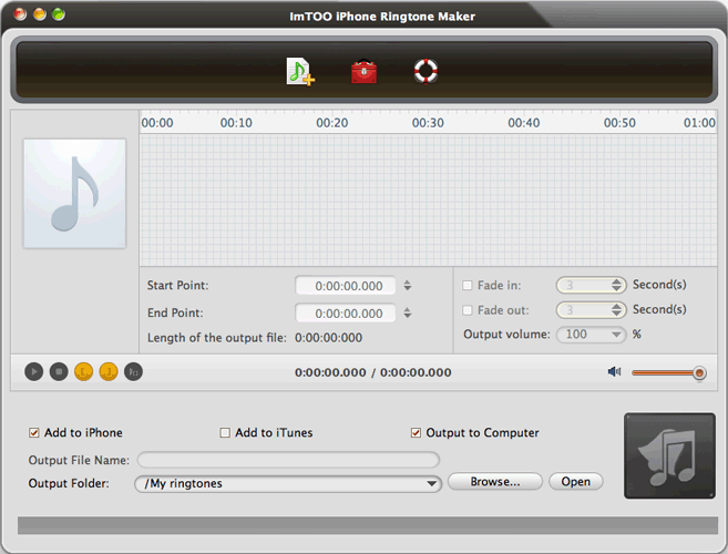 ImTOO iPhone Ringtone Maker for Mac Screenshot