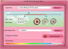 ImTOO iPhone Ringtone Maker for Mac Screenshot 3