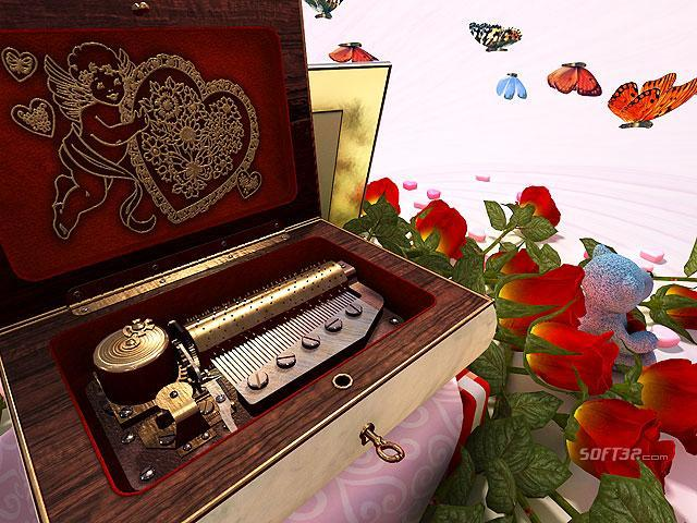 Valentine Musicbox 3D Screensaver Screenshot 2