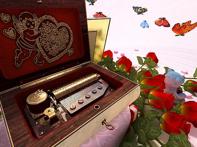 Valentine Musicbox 3D Screensaver Screenshot 1