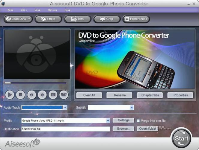 Aiseesoft DVD to Google Phone Converter Screenshot 3
