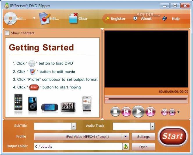iEffectsoft DVD to iPod Ripper Screenshot