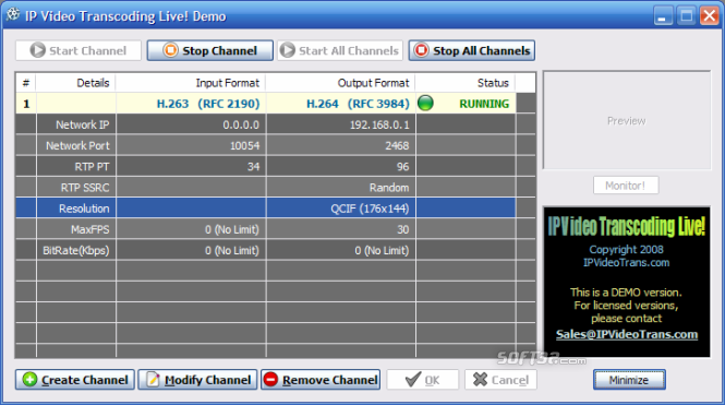 IP Video Transcoding Live! Screenshot 3