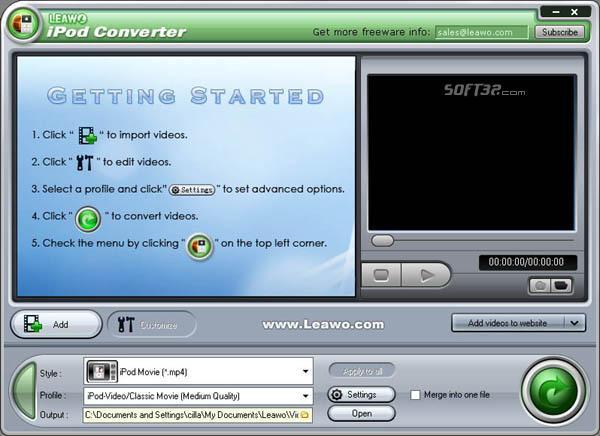 Leawo iPod Converter Pro Screenshot 2