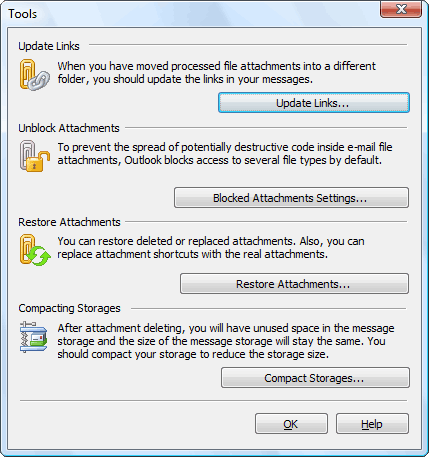 Attachments Processor for Outlook Screenshot 1