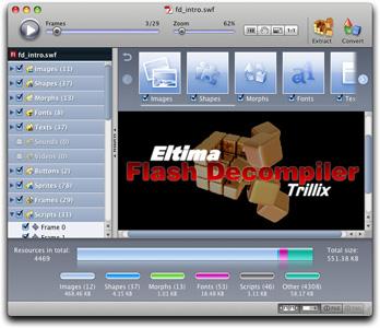 SWF Decompiler for Mac Screenshot 2