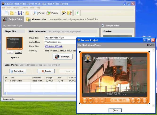 A4Desk Flash Video Player Screenshot 3