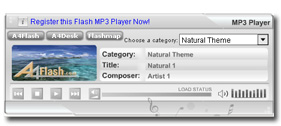 A4Desk Flash Music Player Screenshot