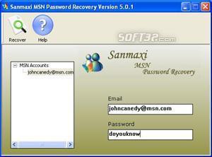 Recover MSN Messenger Passwords Screenshot 3