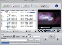 AVCWare Mac DVD Converter Screenshot