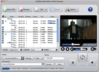 AVCWare Mac DVD to iPod Converter Screenshot