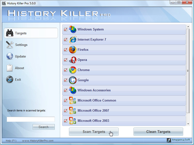 History Killer Pro Screenshot